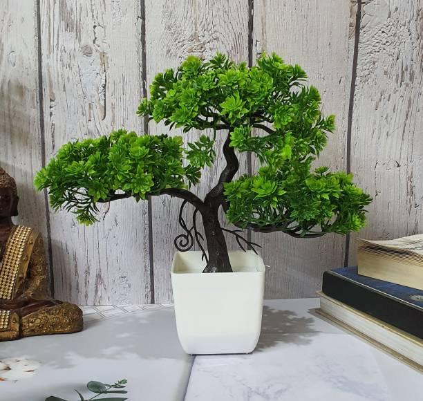 Flipkart SmartBuy Three Branches Mini Tree Bonsai Wild Artificial Plant  with Pot