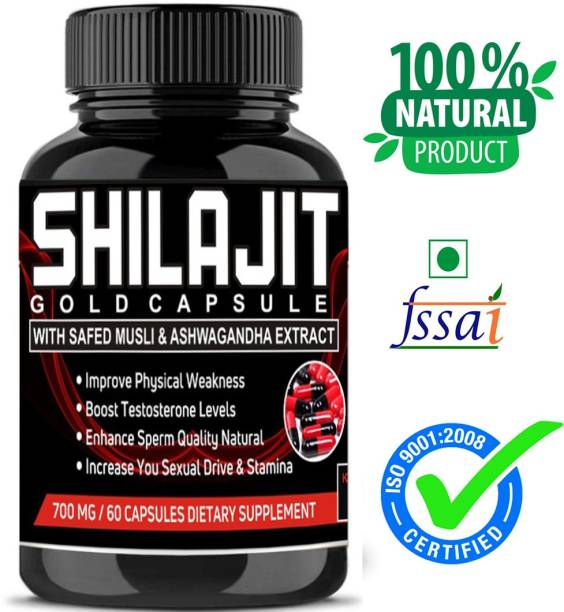AktiveHerbals 100% Pure Natural and Ayurvedic Food food supplement extract Capsule Power Booster To Improve Strength, Stamina, Vigour ,Vitality and Testosterone Booster long time sex