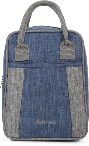 ADIRSA LB3016 NAVY BLUE Insulated Lunch Bag for Office Men, Women Waterproof Lunch Bag