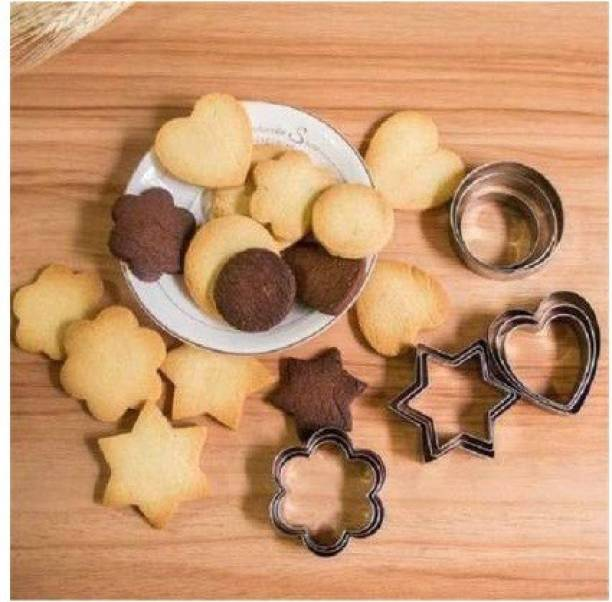 Flipkart SmartBuy Stainless Steel 12 Piece Cookies Cutter in Heart, Star, Circle, and Flower Shapes Cookie Cutter