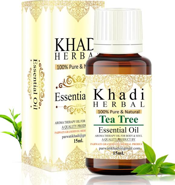 Khadi Herbal 100% Pure & Natural Tea tree Essential Oil Aroma Therapy Oil for Body & Soul