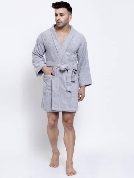 TRIDENT Grey Medium Bath Robe