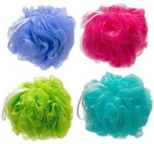 Lenon Beauty Loofah (Pack of 4, Multicolor)
