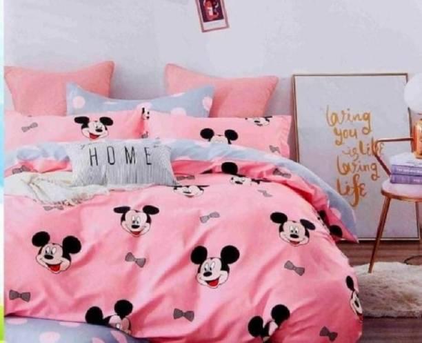 SOPHIE HANDLOOM 200 TC Cotton Double King Cartoon Bedsheet