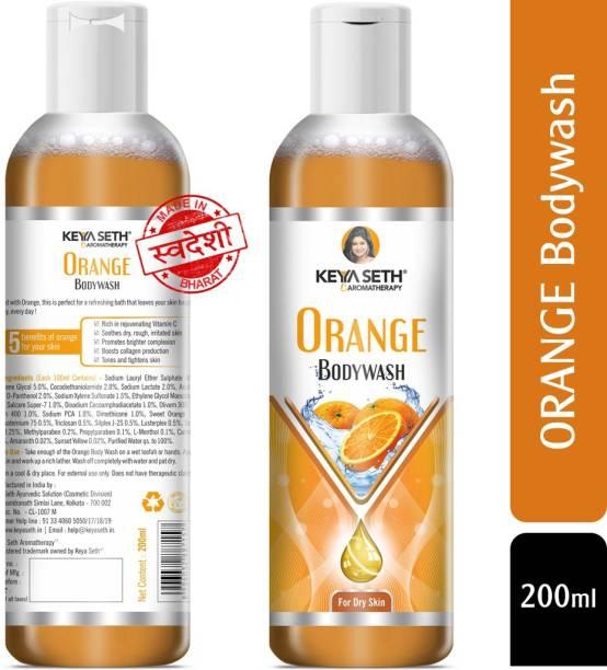 KEYA SETH AROMATHERAPY Orange Bodywash with Orange Essential Oil & Vitamin C for Dry Skin Refreshing, Hydrating Skin Conditioner