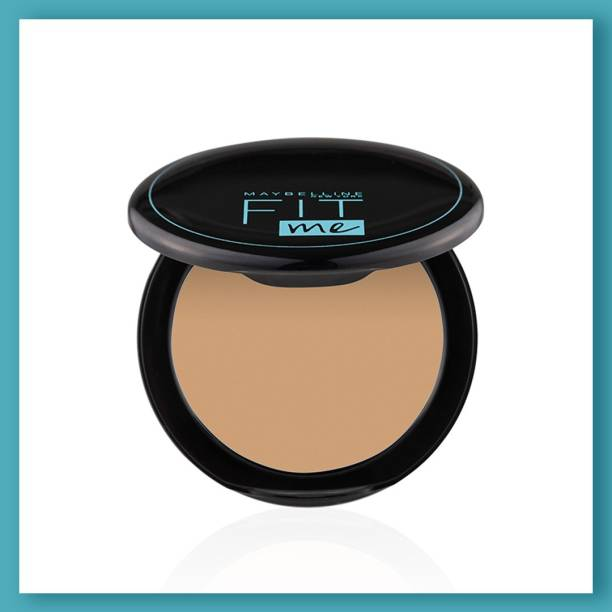MAYBELLINE NEW YORK Fit Me Shade 220 Compact Powder, 8g - Powder that Protects Skin from Sun, Absorbs Oil, Sweat and helps you to stay fresh for upto 12Hrs Compact