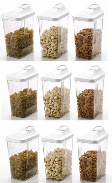 SPINOZA 1100ML Transparent Plastic Cereal Dispenser Easy Flow Kitchen Container Set - Storage Box Idle for Cereal, Spices, Pulse, dry fruits, snacks Container  - 1100 ml Plastic Cereal Dispenser
