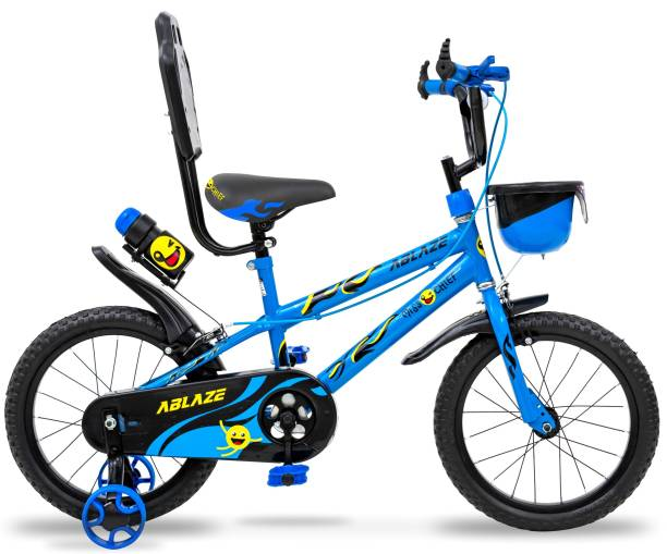 Miss & Chief Ablaze Durable Semi Assembled Kids Bicycle with Accessories and Steel Rim 16 T 16 T BMX Cycle