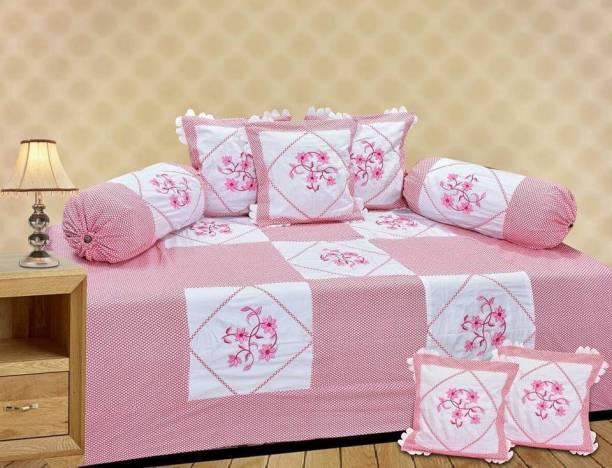 RS Enterprises Cotton Floral Diwan Set
