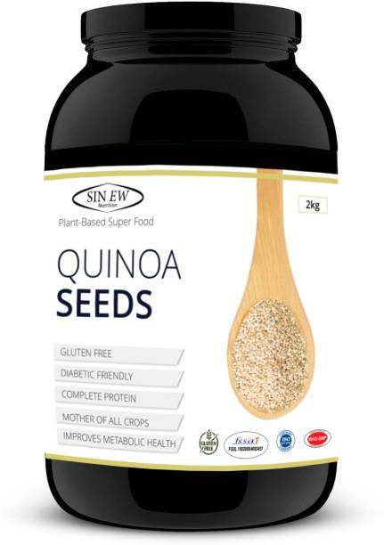 SINEW NUTRITION Quinoa Seeds 2 kg - Rich In Protien & Fiber | Diabetic Friendly | Aids Weight Management | Gluten Free | Vegetarian | Non Gmo