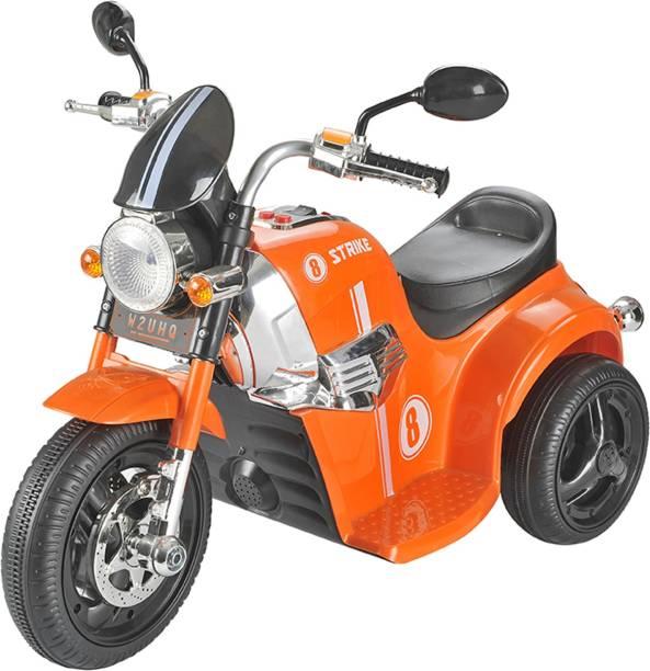 Toyhouse Samurai Strike 8 Rechargeable Battery Operated Ride on Bike for kids(2 to 4yrs) Orange Bike Battery Operated Ride On