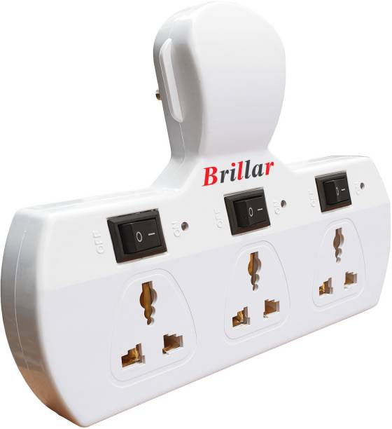 Brillar Multiplug with Individual Switches, Led Indicators & Protection Fuse 6 A Three Pin Socket