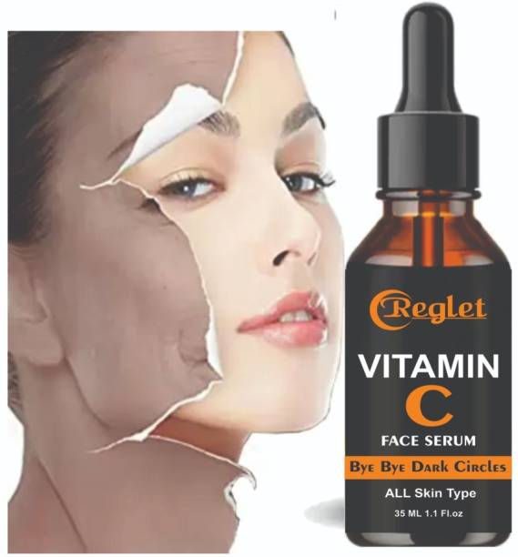 REGLET Vitamin C Serum For Natural Glowing Beauty, Face Serum With Aloevera Extract, Skin Brightening Face Serum Scrub , Skin Clearing Serum - Brightening,Anti-Aging Skin Repair,Dark Circle For Women & Men