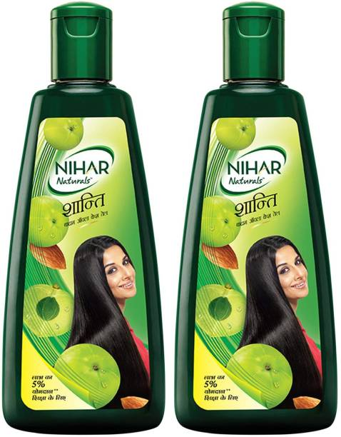 NIHAR Shanti Amla & Badam Hair Oil, For Black, Silky & Stronger Hair Hair Oil
