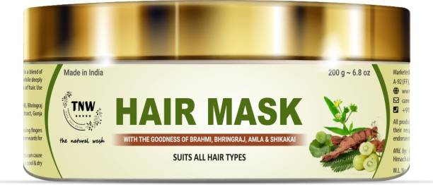 TNW - The Natural Wash Hair Mask with the goodness of Brahmi, Bhringraj, Amla & Shikakai Suits all Hair Types