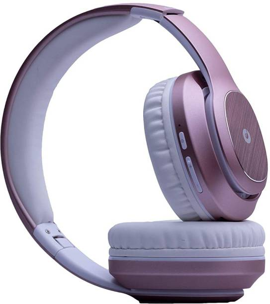 Melomane Opera On-Ear Wireless Headphone with Power-Packed Pink Bluetooth Headset