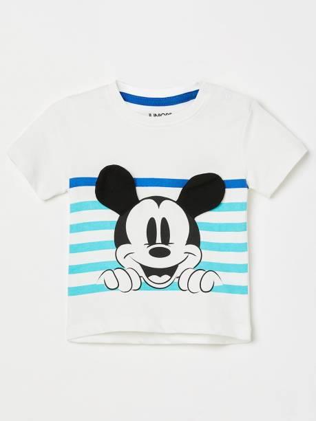 JUNIORS Baby Boys Printed Pure Cotton T Shirt
