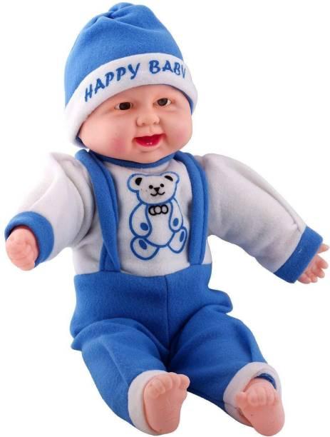 ZeeKart Touch sensors and laughing boy doll for kids girls boys (Blue)