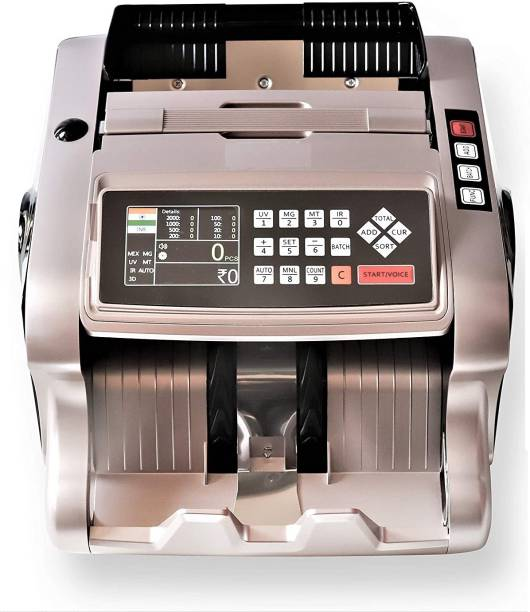 SWAGGERS Heavy Duty Mix Value Note/Money Counting Machine with MG, UV, IR Fake Note Detection Updated for All New and Old Notes for Jewellery Shops, Money Transferes, Banks, Post Offices, Showrooms Note Counting Machine