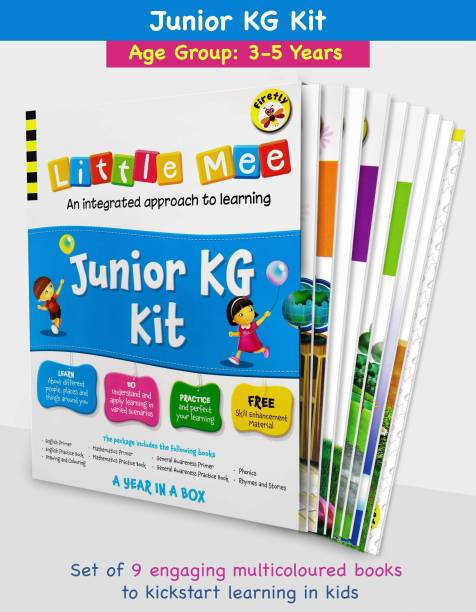 Little Mee Junior KG Kit | LKG Books | Preschool Learning For English, Maths, GK, Phonics, Rhymes, Drawing, Colouring With Worksheets | 3 To 5 Years