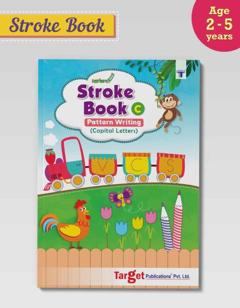 Nurture Pattern Writing And Stroke Book For Kids | Part C | 2 To 5 Year Old | Practice Standing And Sleeping Lines, Curves And ABCD Alphabet Tracing For Preschool And Nursery Children | Includes Colourful Pictures And Activities