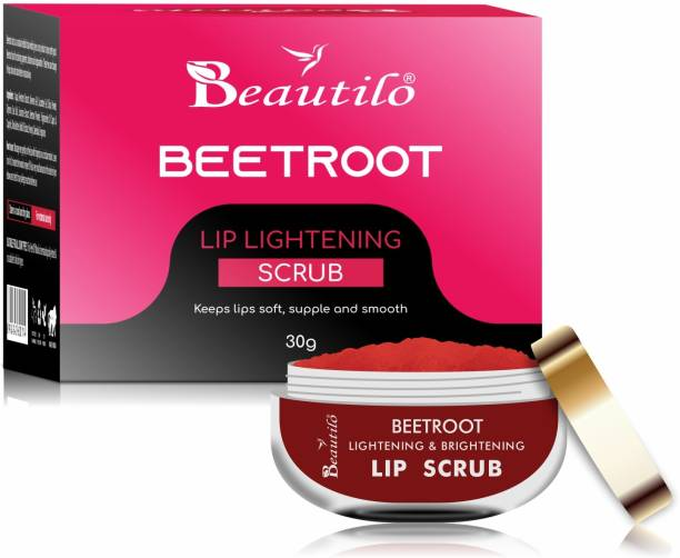 Beautilo Advanced Lip Scrub Balm - Lightening and Brightening Dark Lips - Lip Scrub For Women & Men Dry/Chapped Lip Care – Upto 500 Times Application Scrub
