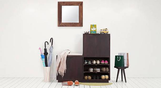 THE ATTIC Solid Wood Shoe Rack