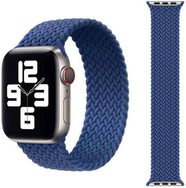 Dhavals Shoppe Luxury Medium Nylon Woven Cloth Braided Solo Strap 42mm / 44mm for iWatch Series 6 / SE /Series 5 / Series 4 / Series 3 / Series 2 Smart Watch Strap