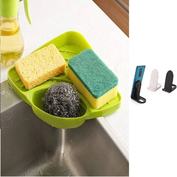 network Multipurpose Must Have Corner Sink Wash Basin Storage Organizer Dish Drainer Kitchen Rack, Green