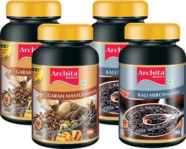 Archita Garam Masala Powder(100g x 2) & Kali Mirch Powder(100g x 2) Pack of 4