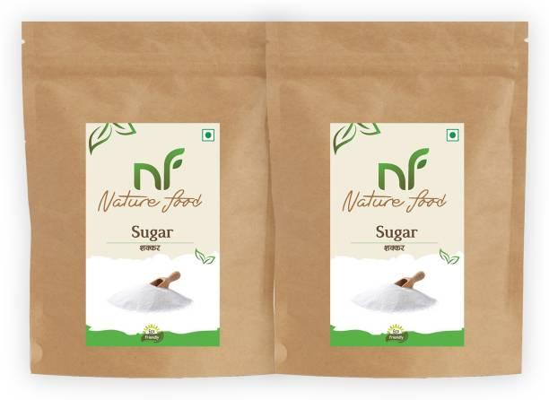 Nature food Best Quality White Sugar- 1kg (Pack of 2) Sugar