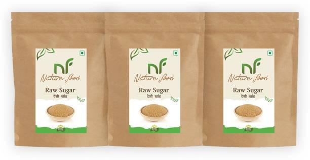 Nature food Best Quality Desi khand/Raw Sugar - 1kg (Pack of 3) Sugar
