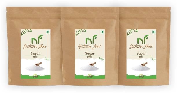 Nature food Best Quality White Sugar- 1kg (Pack of 3) Sugar