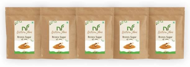 Nature food Best Quality Brown Sugar - 1kg (Pack of 5) Sugar