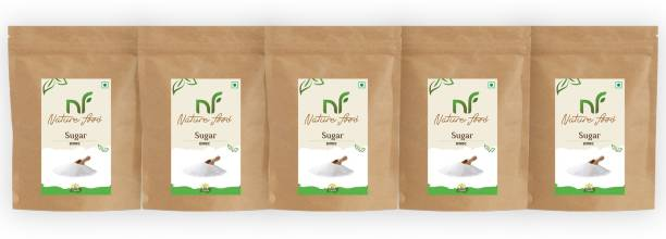 Nature food Best Quality White Sugar- 500gm (Pack of 5) Sugar