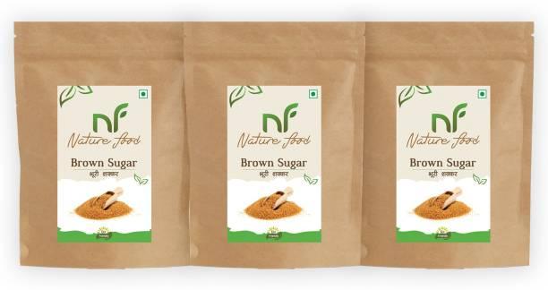 Nature food Best Quality Brown Sugar - 1kg (Pack of 3) Sugar