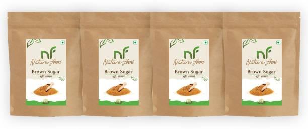 Nature food Best Quality Brown Sugar - 1kg (Pack of 4) Sugar