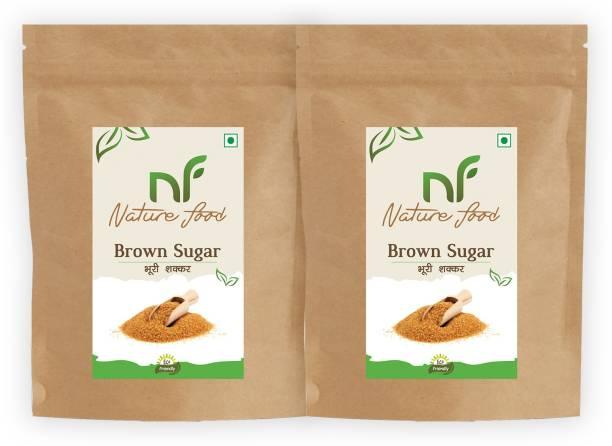 Nature food Best Quality Brown Sugar - 1kg (Pack of 2) Sugar