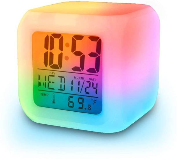 LAMANSH Digital White Clock