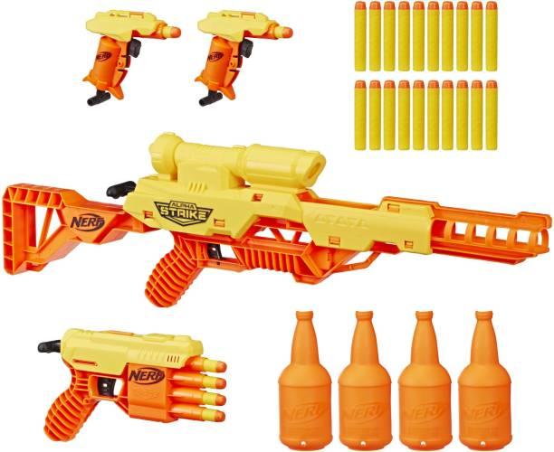 Nerf Alpha Strike Battalion Set, 4 Blasters, 4 Half-Targets and 25 Elite Darts, For Kids, Teens, Adults Guns & Darts