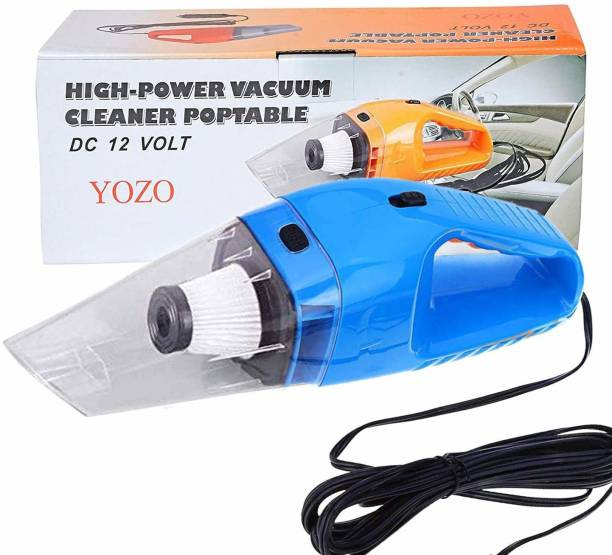 Ozoy Car Vacuum, Hantun Portable Handheld Auto Vacuum Cleaner for Car, 6000Pa Powerful Suction Lightweight Automatic Car Vacuum with 2 HEPA s, for Wet and Dry Cleaning, (Blue) Car Vacuum Cleaner (Blue) Car Vacuum Cleaner