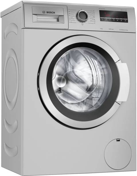 BOSCH 6 kg Fully Automatic Front Load Black, Silver