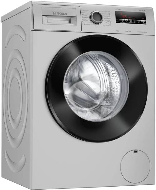 BOSCH 7 kg Fully Automatic Front Load Black, Silver