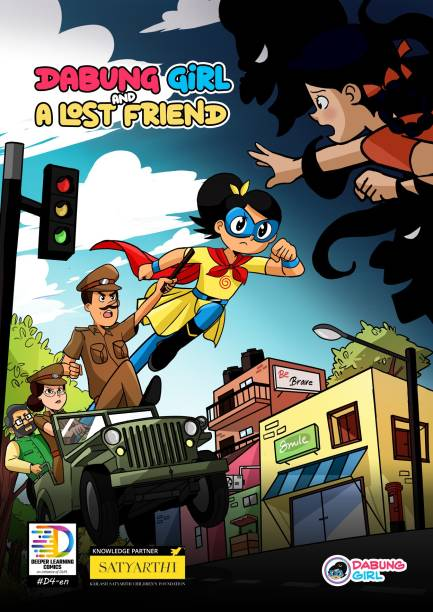 Dabung Girl and A Lost Friend (English) - Indian superhero comic book for children