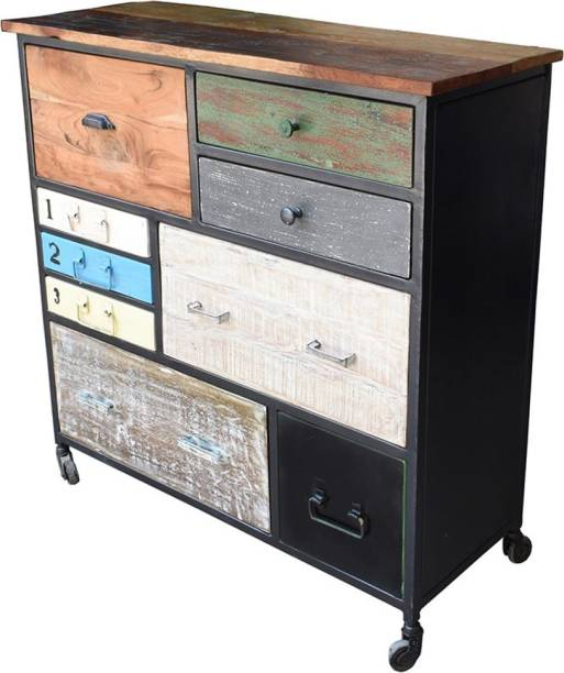 VINTAGE MANGO Solid Wood Free Standing Chest of Drawers