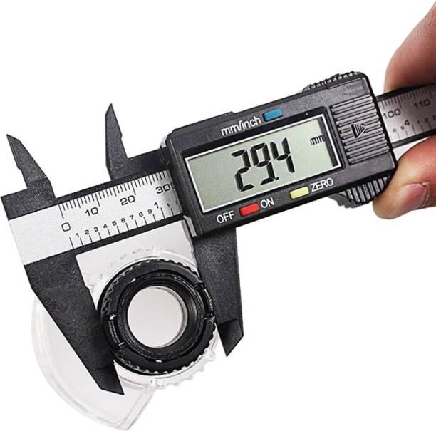 uptodatetools Digital Caliper 150mm 6 inch LCD Digital Ruler Electronic Carbon Fiber Vernier Caliper Gauge Micrometer Measuring Tool Digital Caliper