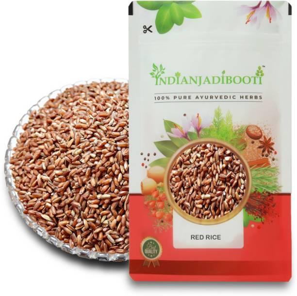 IndianJadiBooti Chawal Sathi Red Rice, 100 Grams Pack Red Raw Rice (Full Grain, Raw)