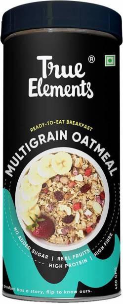 True Elements Multigrain Oatmeal - No Added Sugar, Real Fruit, Ready to Eat Breakfast