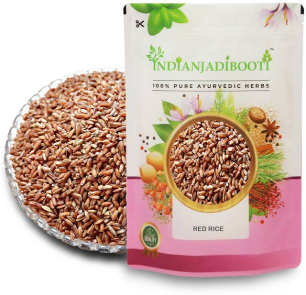 IndianJadiBooti Chawal Sathi Red Rice, 900 Grams Pack Red Raw Rice (Full Grain, Raw)