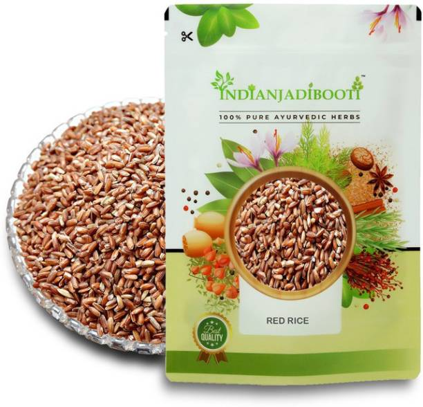 IndianJadiBooti Chawal Sathi Red Rice, 400 Grams Pack Red Raw Rice (Full Grain, Raw)